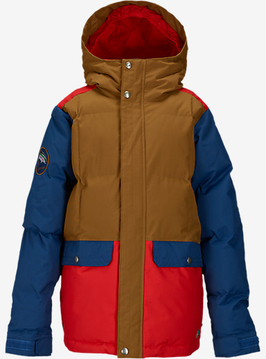 Burton Boys' Tundra Puffy Jacket shown in Beaver Tail Block