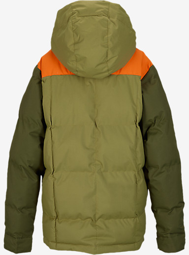 Burton Boys' Tundra Puffy Jacket shown in Algae Block [bluesign® Approved]
