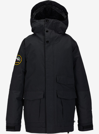 Burton Boys' Atlas Jacket shown in True Black [bluesign® Approved]