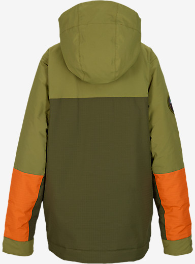 Burton Boys' Atlas Jacket shown in Algae Block [bluesign® Approved]