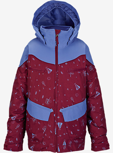Burton Girls' Lola Jacket shown in Sangria Peace Park Block