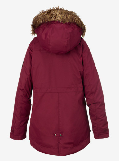 Burton Girls' Aubrey Parka Jacket shown in Sangria