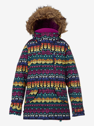 Burton Girls' Aubrey Parka Jacket shown in Figaro Stripe