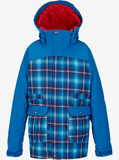 Burton Girls' Maddie Jacket shown in Flynn Plaid / Heron Blue [bluesign® Approved]