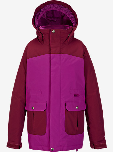 Burton Girls' Maddie Jacket shown in Grapeseed / Sangria [bluesign® Approved]