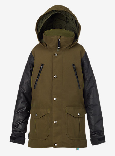 Burton Girls' Ava Trench Jacket shown in Keef / Black Leather