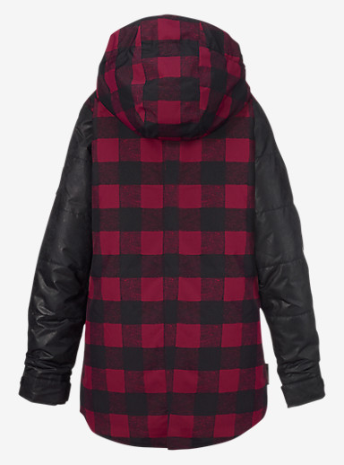 Burton Girls' Ava Trench Jacket shown in Lumberjill / Black Leather