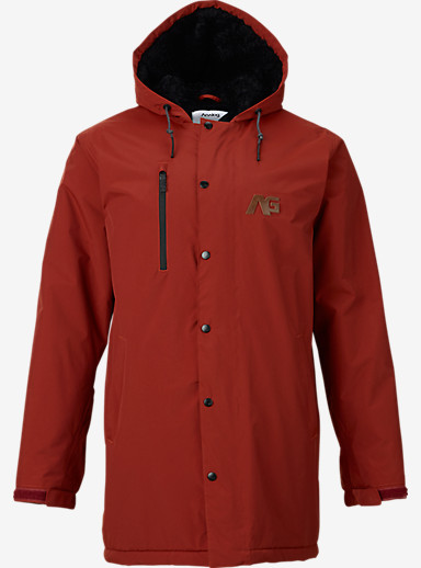 Analog Stadium Parka Snowboard Jacket shown in Oxblood