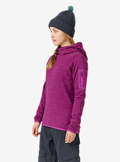 Burton [ak] Women's Lift Hoody shown in Heathered Grapeseed
