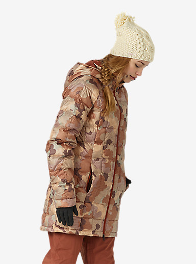 Burton [ak] Long Baker Down Insulator Jacket shown in Storm Camo