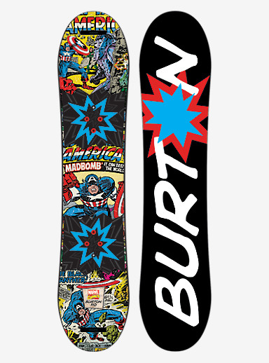 Marvel® x Burton Chopper LTD Snowboard shown in 110
