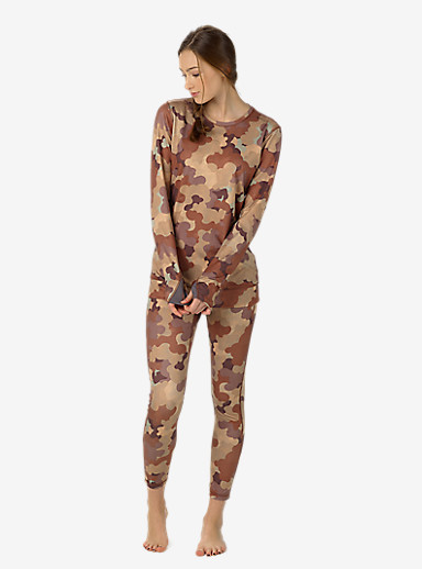 Burton Women's [ak] Power Stretch® Crew shown in Storm Camo