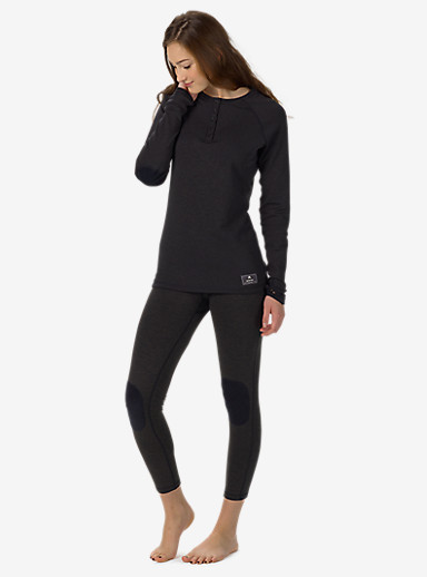 Burton Women's Expedition Wool Henley shown in True Black Heather