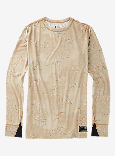 Burton Midweight Base Layer Wool Crew shown in Hawaiian Desert