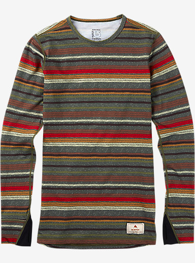 Burton Women's Midweight Wool Crew shown in Blanket Stripe