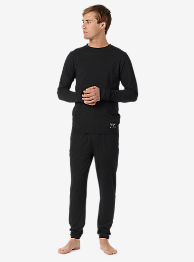 Burton Midweight Base Layer Wool Pant shown in True Black Heather