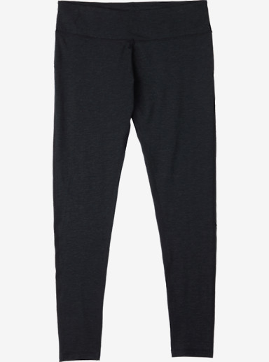 Burton Women's Midweight Base Layer Wool Pant shown in True Black Heather