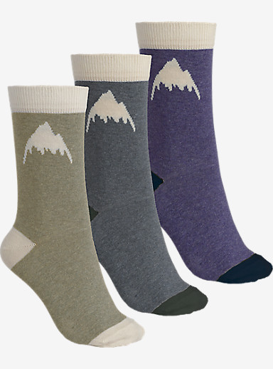 Burton Women's Apres Sock 3 Pack shown in Heathered