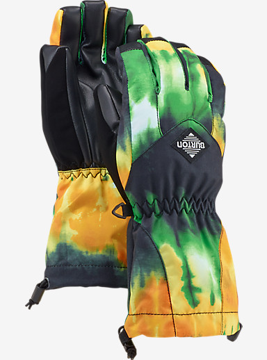 Burton Kids' Profile Glove shown in Slime Surf Stripe