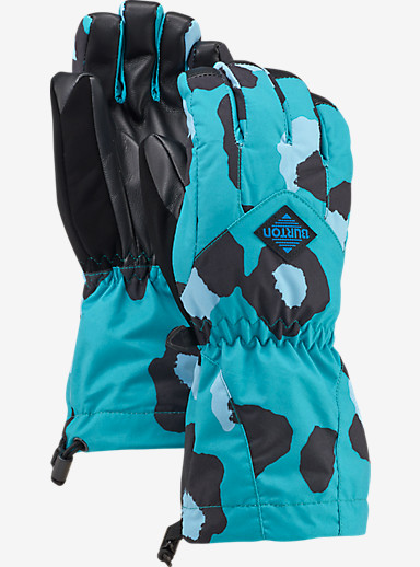 Burton Kids' Profile Glove shown in Everglade Super Leopard