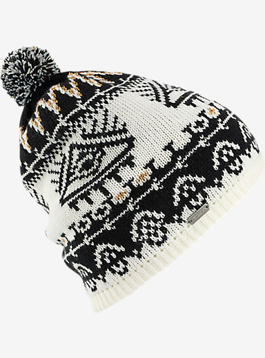 Burton Equinox Beanie shown in True Black / Stout White