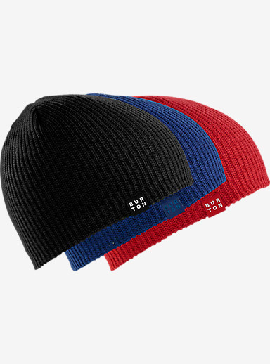 Burton Kids' DND Beanie 3-Pack shown in True Black / Boro / Process Red