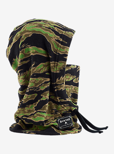 Burton Burke Hood shown in Beast Camo