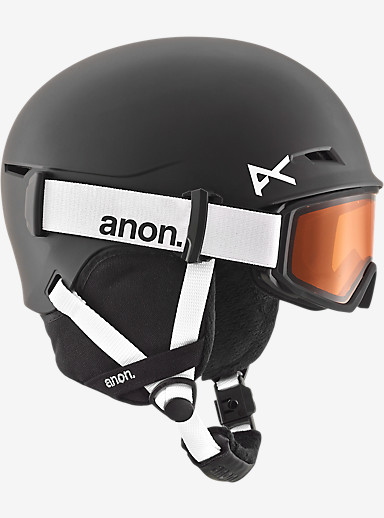 anon. Boys' Define Helmet shown in Black
