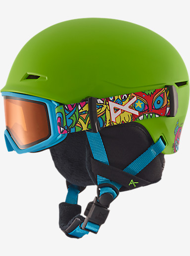 anon. Boys' Define Helmet shown in Wildthing Green