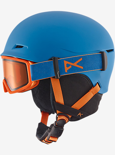 anon. Boys' Define Helmet shown in Blue