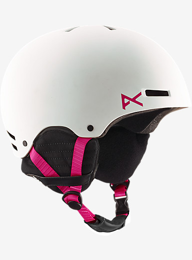 anon. Greta Helmet shown in White / Pink