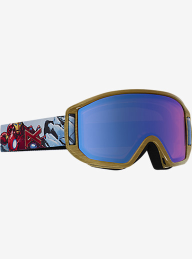 Marvel® x anon. Relapse Jr. MFI Goggle shown in Frame: Iron Man™ © 2016 MARVEL, Lens: Blue Amber