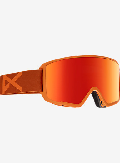 anon. M3 MFI Goggle shown in Frame: Orange, Lens: Red Solex