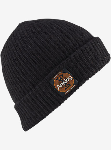 Analog Blowout Slouch Beanie shown in Black