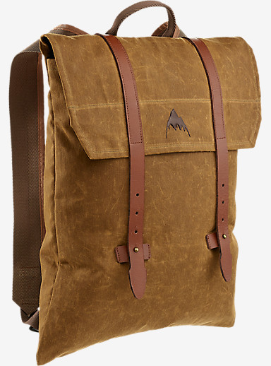 Burton Taylor Backpack shown in Foxy Brown Wax Canvas