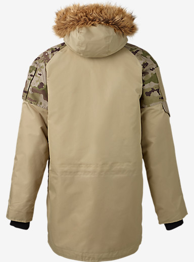 UNDEFEATED x Alpha Industries x Burton N-3B Parka shown in Coyote Tan / UNDFTD Camo
