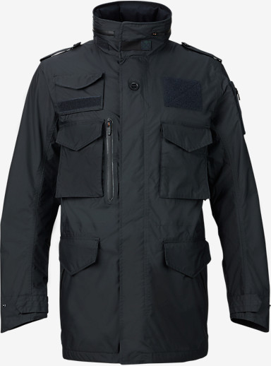 UNDEFEATED x Alpha Industries x Burton M-65 Trench Jacket shown in Black Ops