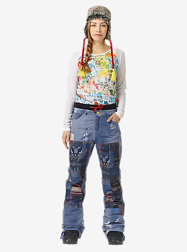 L.A.M.B. x Burton Buju Cargo Pant shown in Denim Print