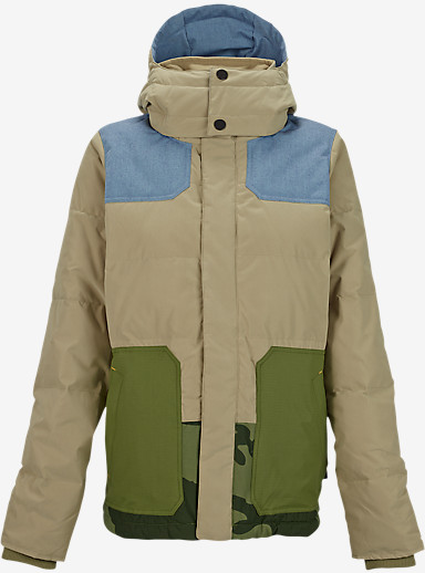 L.A.M.B. x Burton Blitz Down Jacket shown in Cement / Chambray / Weeds / Camo