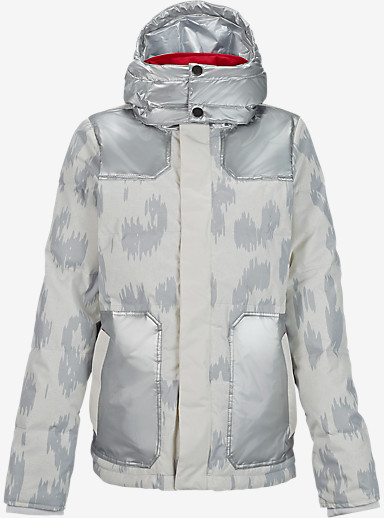 L.A.M.B. x Burton Blitz Down Jacket shown in Snow Leopard / Metallic Silver
