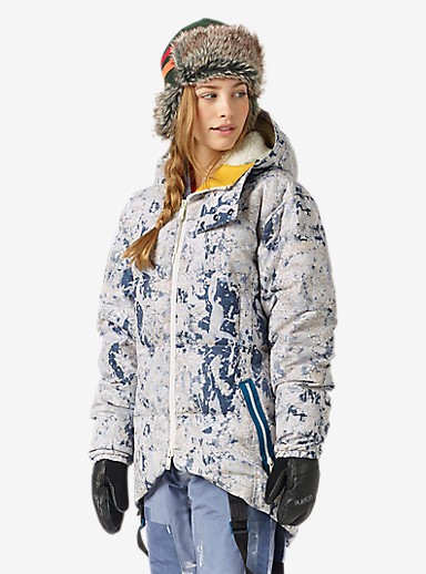 L.A.M.B. x Burton Bolan Down Jacket shown in Paint Crackle