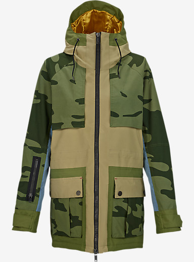 L.A.M.B. x Burton Riff Parka shown in Cement / Chambray / Weeds / Camo