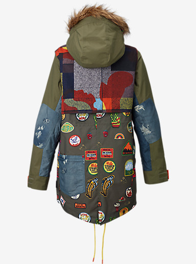 L.A.M.B. Riff Parka shown in Camp Patches