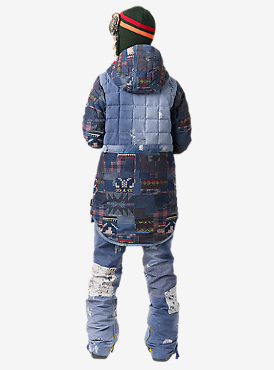 L.A.M.B. x Burton The Alice Insulator Jacket shown in Patchwork / Denim Print