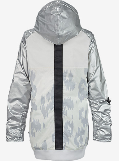 L.A.M.B. x Burton Misfit Bomber Jacket shown in Snow Leopard / Stout White / Metallic Silver