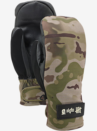 UNDEFEATED x Alpha Industries x Burton Mitt shown in UAB Camo