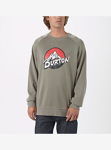 Burton Retro Lockup Crew Pullover shown in Light Olive