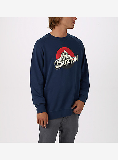 Burton Retro Lockup Crew Pullover shown in Indigo