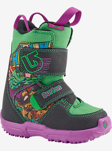 Marvel® x Burton Mini Grom Snowboard Boot shown in Hulk Smash! ™ & ©2014 Marvel & Subs.