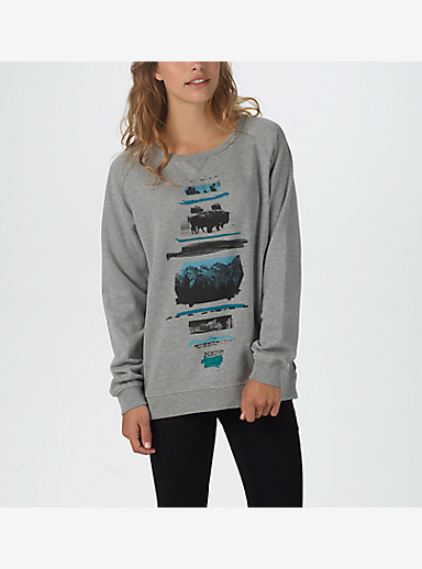 Burton Tumbledown Crew Raglan Pullover shown in Gray Heather